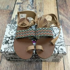 Tan Sandals by Brash Size 6 New in Box